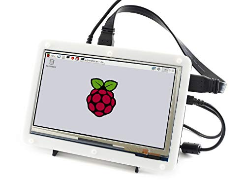Waveshare Haute Résolution 1024*600 Avec Bicolor Case 7 pouces écran tactile capacitif LCD HDMI avec Raspberry Pi 3/All Ver. Raspberry pi/ BB BLACK/PC/Various Systems