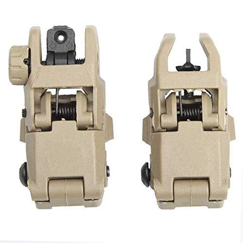 SUNRIS Tactical M4 AR15 AR-15 Front- und Heckklappvisier klappen Schnellwechsel-Sicherungsvisier für Picatinny-Schiene auf