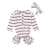 Saco de Dormir A Rayas Bolsa de bebé y Sombrero Sets Bodies Bebe Manga Larga Pijama Bebe Verano y otoño 2PC