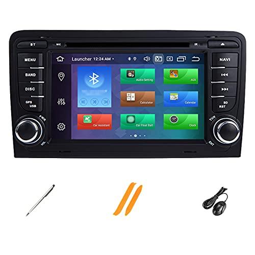 HAZYJT 4gb 2din Android 10 Radio De Coche Reproductor De DVD Navegación Multimedia Unidad Principal De Audio IPS Dsp Compatible con A3 8p S3 2003-2012 Rs3 Sportback
