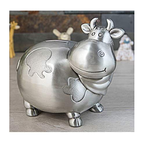 Guoqunshop Hucha de Hucha de metal de gran capacidad para niños, de gran capacidad, para cambio de moneda, para niño, niña, caja fuerte de regalo (color: B)