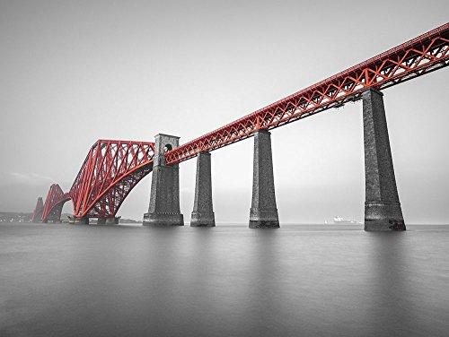 Posterazzi PDXAF20171016062C02SMALL Forth Rail Bridge, Scotland Photo Print, 24 x 18, Multi