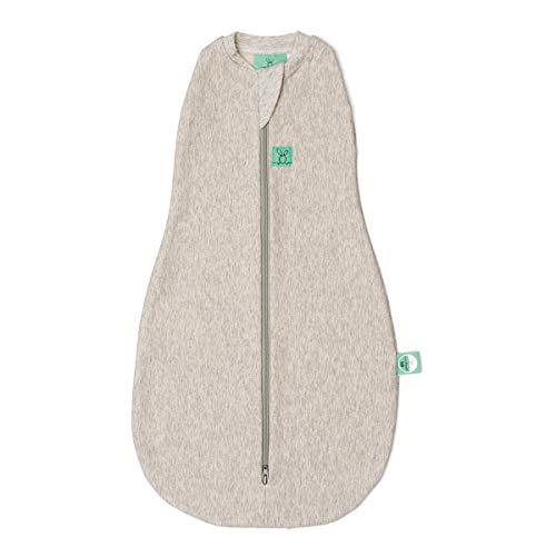 ergoPouch Cocoon, Sommerschlafsack Baby, Pucksack Baby, Schlafsack, Sommer - Tog 1.0 - weiß - 0-3 Monate