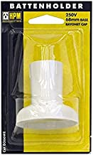 CD366WE Standard Bc Batten Lamp Holder White - HPM - 9321001270935