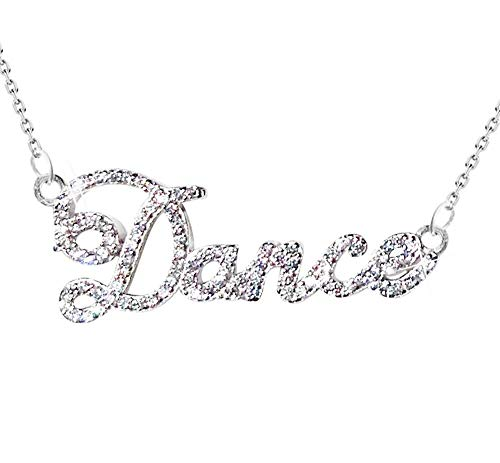 New Solid Sterling silver 925 and AAA Crystal Stunning Dance Necklace Designed by Decorum Jewellery. Quality. Boxed.