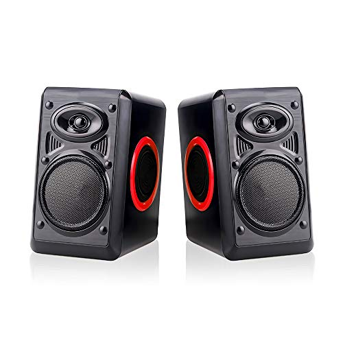 Computer Speakers for Desktop/Laptop/Mac, USB Powered PC Speaker, 2.0 Channel Stereo Multimedia Speaker for TV, Notebook, Built-in Diaphragm,3w3w Horn and in-Line Volume Control TOMOT FT-165