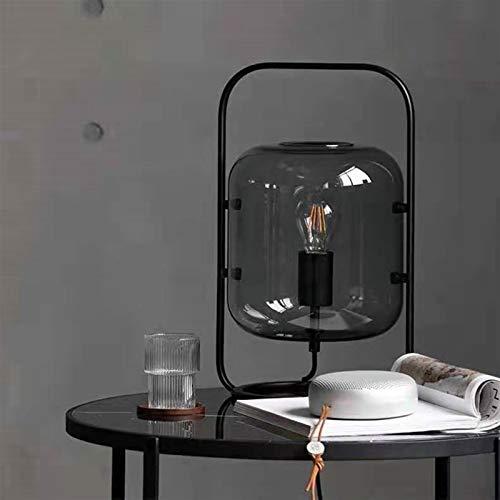 Xssbhsm Lámparas de Mesa para Dormitorio Calabaza de la Cera clásica lámpara de Pared del Arte del Hierro de la Cortina de la Sala Luz Estudio Accesorios de iluminación LED de la lámpara de Cristal
