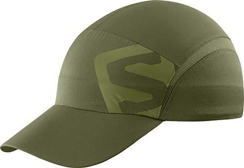 Salomon, Leichte Laufkappe, Unisex, XA CAP, Verstellbare Größe, Grün (Olive Night), Größe S/M, LC1405400