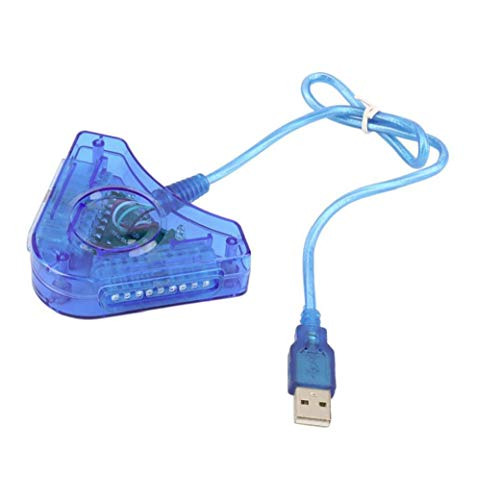 Runfon USB-Controller Adapter Für Psx Und Ps2 Controller Dual-Port-Controller Pc-USB-Adapter-konverter Durable Zubehör