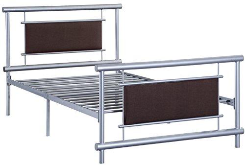 Homelegance Gavino Metal Platform Bed, Twin, Silver