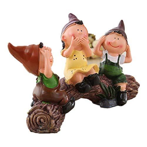 IUYJVR Fine Christmas Decoration Figurine, 3 doll Resin Christmas Ornament Birthday Gift 13x8cm perfect