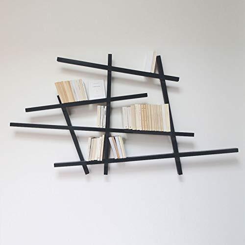 COMPAGNIE Mikado - étagère 185 x 100 cm laquée - Couleurs - Noir