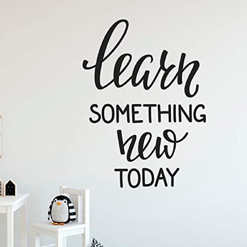 Vinyl Wandtattoos Lernen Sie Etwas Neues Worte Wand Stciker Für Klassenzimmer Büroraum Kunstwand Für Zuhause Schlafzimmer Decor57 * 42 cm