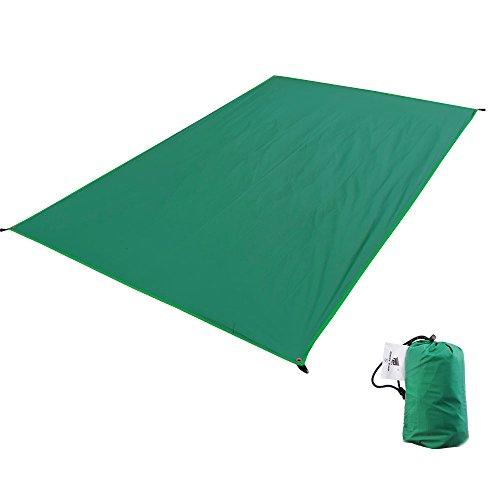 GEERTOP テントシート 軽量 防水 両面シリコナイジング キャンプ 登山 ピクニック グランド マット 1~4人に適用 (グリーン, M (90 x 210 cm))