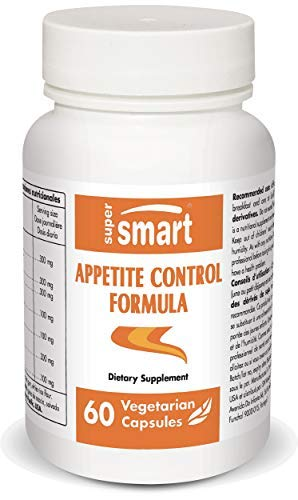 Supersmart - Appetite Control Formula - with Slimaluma, EGCG & 5-HTP - Natural Aid to Regulate Appetite - Weight Loss Pills | Non-GMO & Gluten Free - 60 Vegetarian Capsules