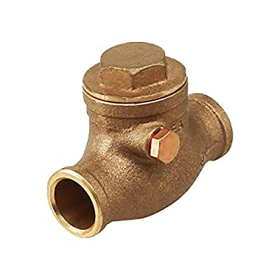 Everflow Supplies 210C034-NL Sweat Brass Swing Check Valve 3/4 Inch - Lead Free from Everflow Supplies