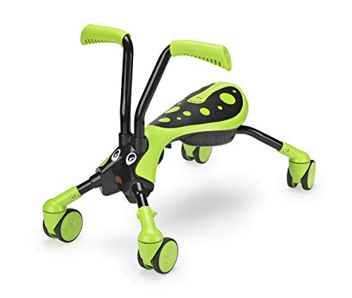 Mookie Scramblebug 4-Wheel Foldable Foot-to-Floor Ride-On with 360 Wheels | Develop Your Toddler's Balance and Motor Skills, Fun with No Surface Scratches! | for Kids 12 Months and Up | Hornet