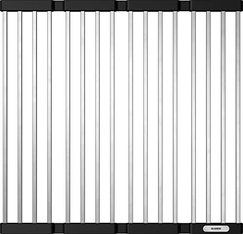 BLANCO 238483 Klappmatte als Abtropf für die Küchenspüle, faltbare Matte für das Waschbecken in der Küche, Breite 440 mm