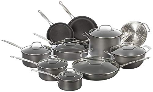 Cuisinart Chef#039s Classic NonStick Hard Anodized 17 Piece Set Black