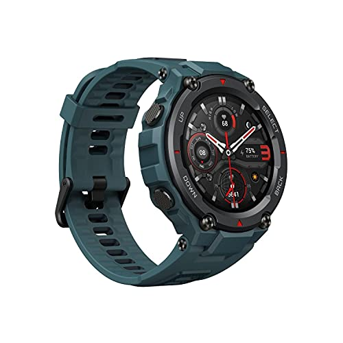 Amazfit T-Rex Pro Smartwatch Fitness Watch with Built-in GPS, Military Standard Certified, 18 Day Battery Life, SpO2,...