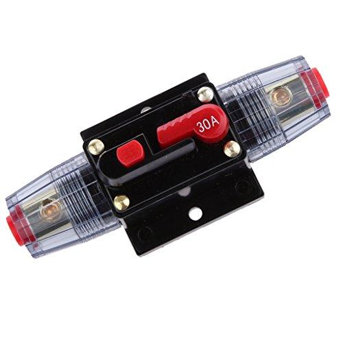 12v-24v Interruptor Ajustable Manual Línea Circuito Automático Interruptor 30A Fusible Audio Coche