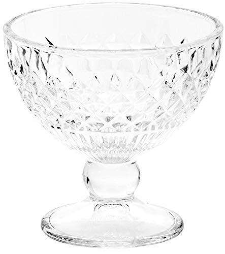 Classic Footed Dessert Cups Premium Crystal Clear Glass Ice Cream Bowls - Perfect for Parfait Fruit Salad or Pudding Set of 6 9 OZ