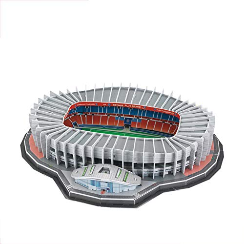Aida Bz Prince Park Stadium 3D-Puzzle, Paris Saint-Germain Fußballverein DIY-Modell, Fans (16,5 * 13,8 * 3 Zoll)
