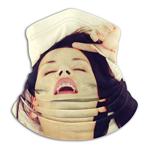 Qinckon Face Closeup of A Pleased Beautiful Woman During Morning Sex In Bed Fleece Neck Warmer Balaclava Hood