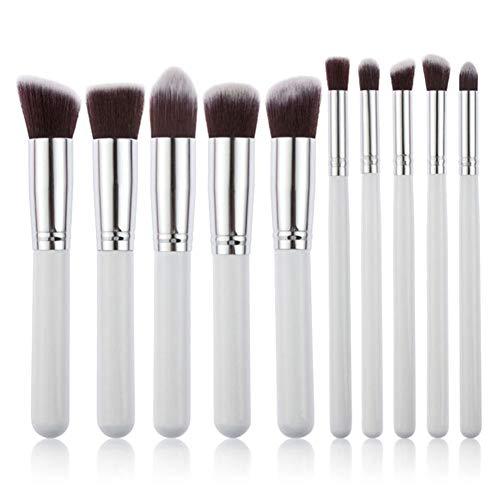 Milopon Lot de 10 pinceaux de maquillage pour fard à paupières, sourcils, pinceaux de maquillage pour femme, A, 8 cm e 6 cm