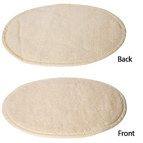 IFLKK ter verbetering van de slaap auto verwarming ronde veren van de demper Donut Caldo All Cuddler Kennel Calming Rotonda Nest, XL 78 * 56, Wit