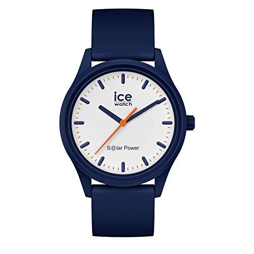 Ice-Watch - ICE solar power Pacific - Blaue Herren/Unisexuhr mit Silikonarmband - 017767 (Medium)