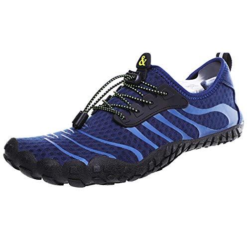 GGPUS Unisex sneakers, outdoor waden schoenen, mannen en vrouwen 5-vinger strand zwemschoenen, paddle schoenen, blauw, 41/42