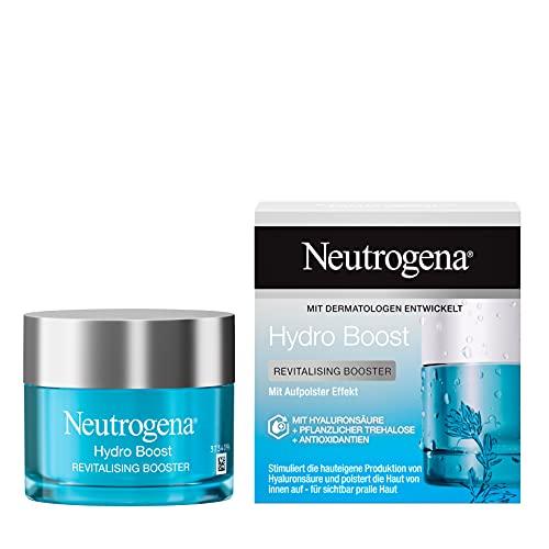 Neutrogena Hydro Boost Gesichtscreme, Revitalising Booster mit Hyaluron & Antioxidantien, 50ml