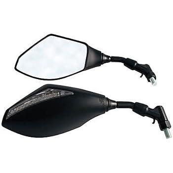 Universal Motorrad-R/ückspiegel Seitenspiegel Integrierte LED-Blinker Blinker-Anzeige Passend f/ür CBF1000 CBR954RR Katana 600