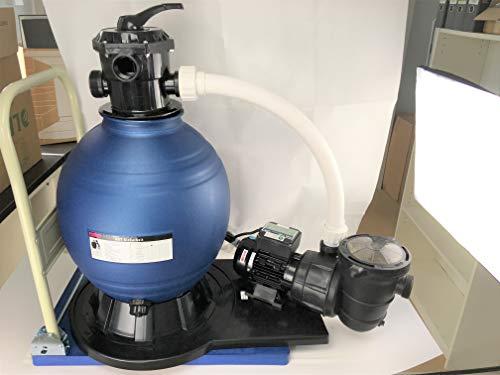 Profi Leis Sandfilteranlage 17 m ³ Sandfilter Pumpe 1000 W Poolfilter Filter 100 kg komplett mit Wagen