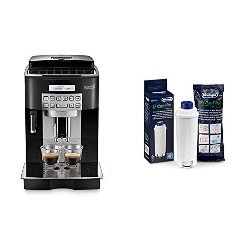 De'Longhi Magnifica S Ecam22.360.B Macchina Da Caffè Automatica Per Espresso E Cappuccino, Caffè In Grani O In Polvere, 1450 W & Dlsc002 Filtro Per Acqua Macchina Caffè, Filtro Acqua Addolcitore