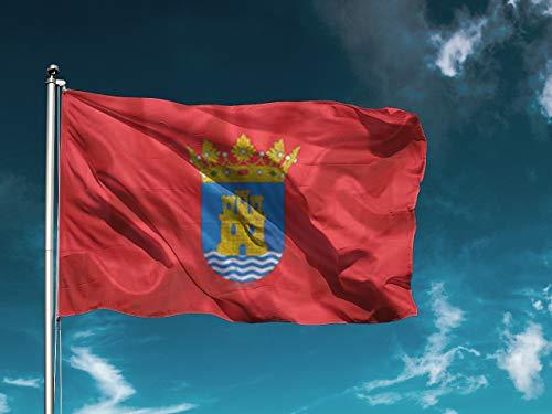 G | Bandera Alcalá De Henares | Medidas 150cm x 85cm | Fácil colocación | Decoración Exteriores (1 Unidad)