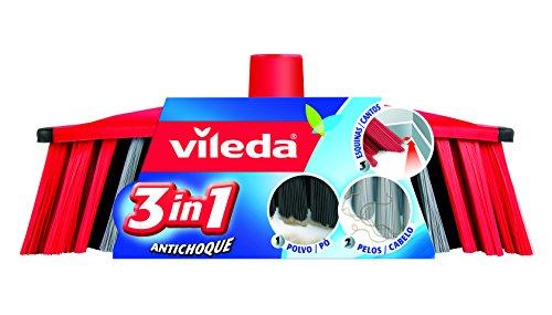 Vileda 01319088 Ersatzbürste, 3-in-1-Modell, 2er-Pack
