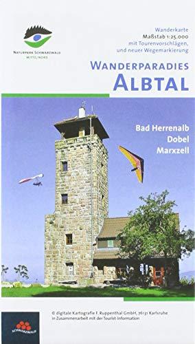 Wanderparadies Albtal: Wanderkarte, Dobel, Bad Herrenalb. 125000