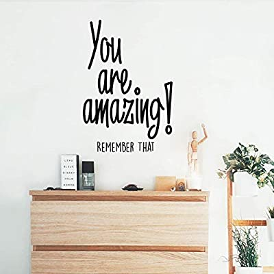 """You are Amazing! Remember That - Inspirational Life Quotes - Wall Art Vinyl Decal - 34"""" x 23"""" Decoration Vinyl Sticker - Motivational Wall Art Decal - Bedroom Living Room Decor"""