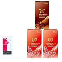ジェクス グラマラスバタフライ (ストロベリー 2箱、チョコレート 1箱)(各6個入り)+ リンクルゼロゼロ1個入 セット