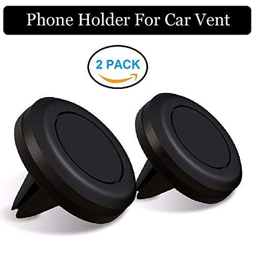 Realmax [2 Pack] magnetische mobielhouder voor de ventilatie van voertuigen, staander/houder voor iPhone X 8 7 6 Plus 5 SC Samsung S8 S7 S6 rand Note 8 Sony Nokia LG HTC en alle smartphones (zwart)