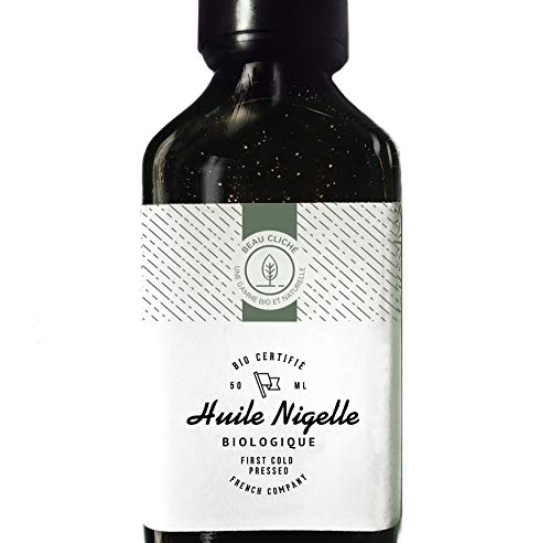 Organic Nigella Oil cold pressed، Pure، Cumin - 100٪ Natural Care for Skin، Hair، Scalp - مستحضرات التجميل وجودة الغذاء - 50 مل