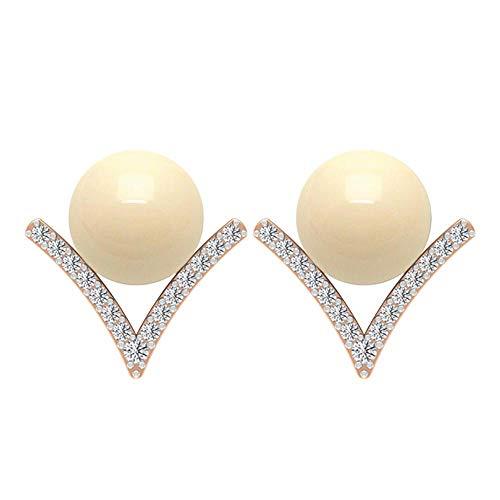 Pendientes de perlas cultivadas japonesas con detalles de diamante, pendientes minimalistas, pendientes de orotornillo hacia atrás