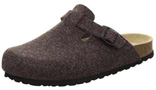 AFS-Schuhe Herren Hausschuhe geschlossen aus Filz, Bequeme, warme Winter Clogs, Made in Germany, 36900 (46 EU, braun)