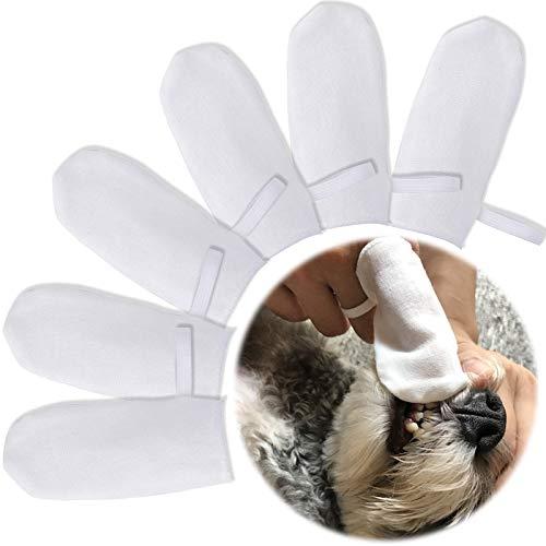 onebarleycorn - Haustierzahnbürste für Hunde und Katzen, Haustier-Zahnreiniger, Zahnreinigung (Baumwolle)