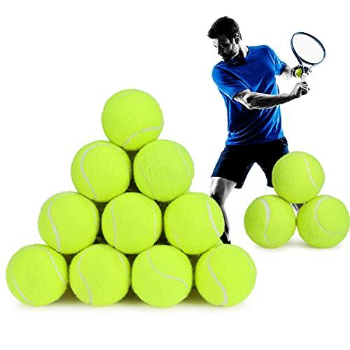Palline da Tennis, Fostoy Confezione da 24 Palle Giocattolo Allenamento Tennis Durevoli con Borsa da Trasporto in Rete per Adulti, Bambini e Cani