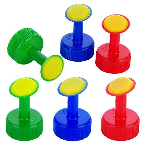 CYSJ 30 PCS Boquilla de Riego de Rociadores Plástico, Boquilla de aspersor, Tapas de Riego para Botellas de Plástico, para Riego de Flores Botella de Riego Regadera de Latas(Rojo Verde Azul)