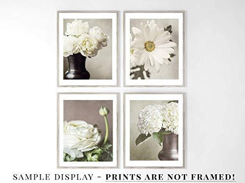 FBMF 8x10 Shabby Chic Aqua Dandelion Flower Wall Art Print Not Framed for Nursery 11x14 or 16x20. Bathroom or Girls Room Decor