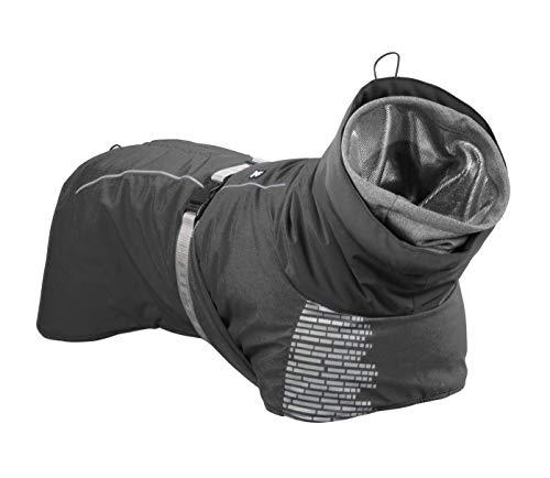 Hurtta Extreme Warmer Hundemantel, Winterjacke für Hunde, Granit grau 65 cm